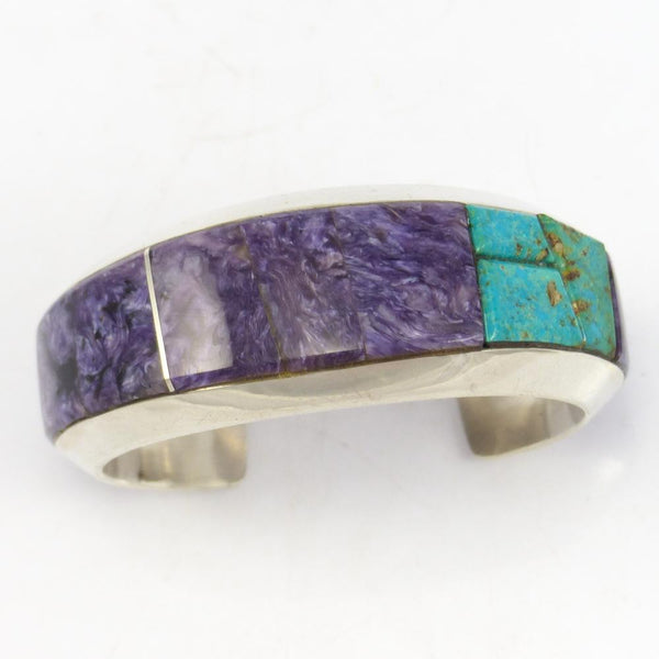 Charoite and Turquoise Cuff