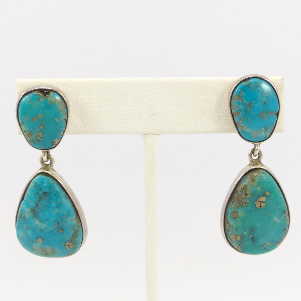 with product earrings drop turquoise beads dangles gold handmade