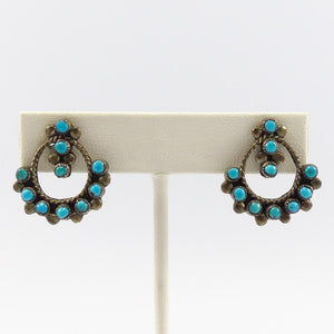 Turquoise Snake Eye Earrings