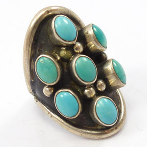1970s Fox Turquoise Ring
