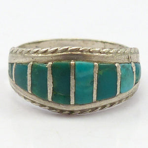 1970s Turquoise Inlay Ring
