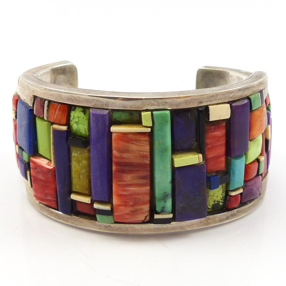 1990s Colorful Inlay Cuff