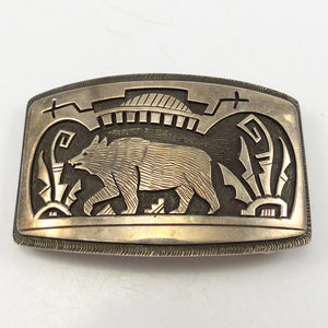 1980s Hopi Bear Buckle