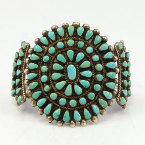1960s Turquoise Cluster Cuff