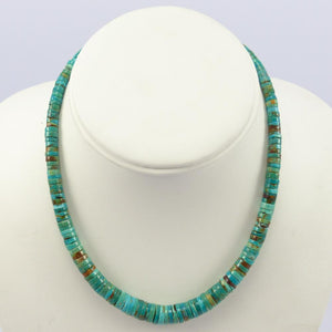 1940s Blue Gem Turquoise Necklace