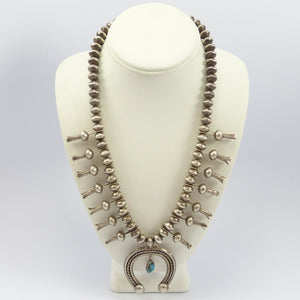 1960s Bisbee Squash Blossom Necklace