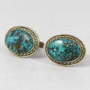 1960s Turquoise Cuff Links