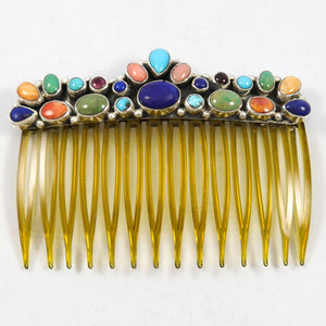 Multi-stone Hair Comb