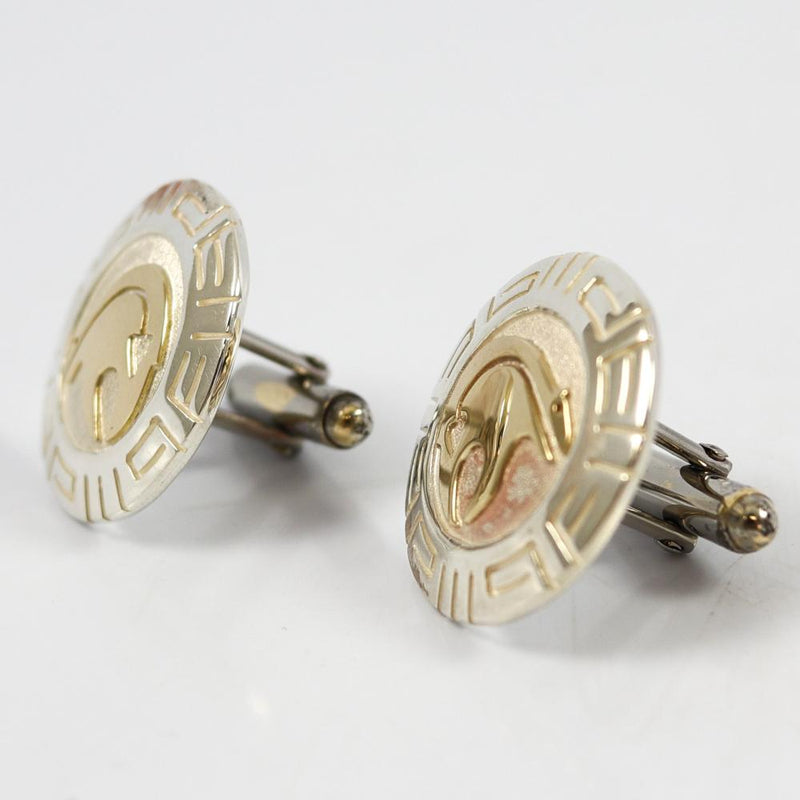 Gold on Silver Cuff Links