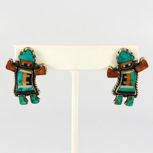 1960s Rainbow Man Earrings