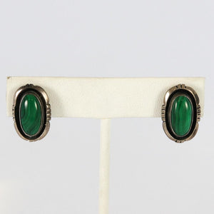 1970s Malachite Earrings