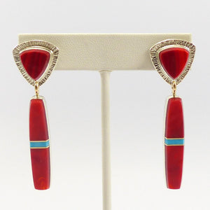Rosarita and Turquoise Earrings