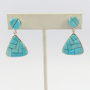 Silver Bell Turquoise Earrings