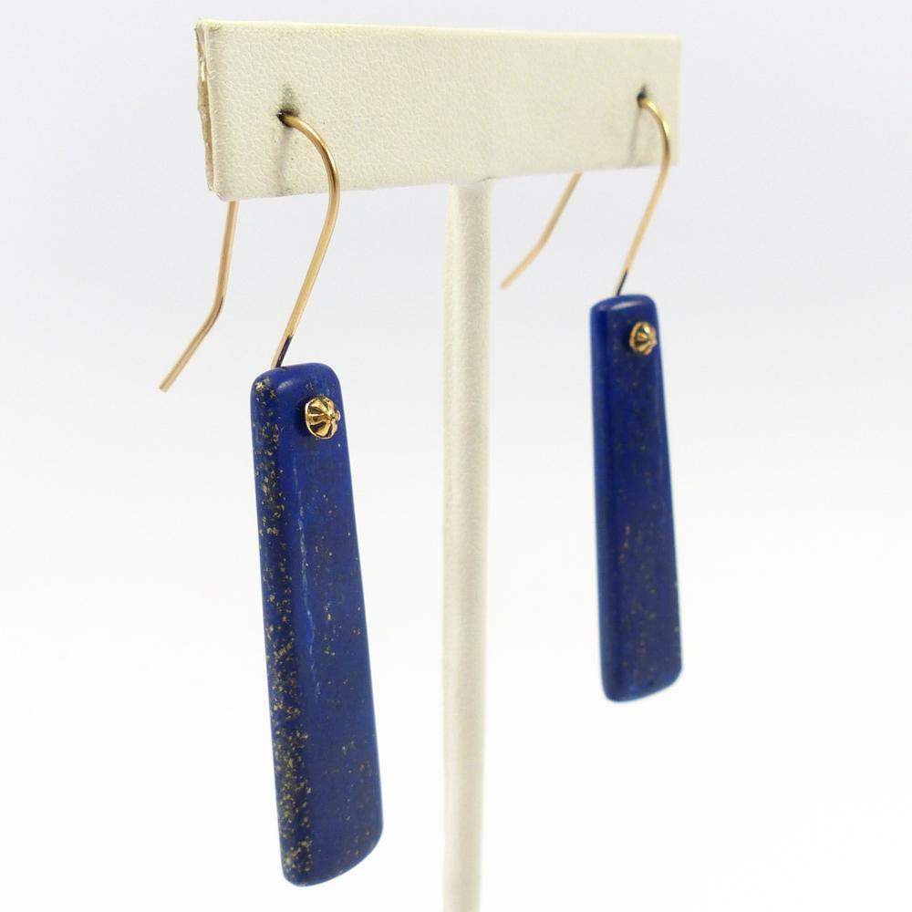 Lapis and Gold Earrings