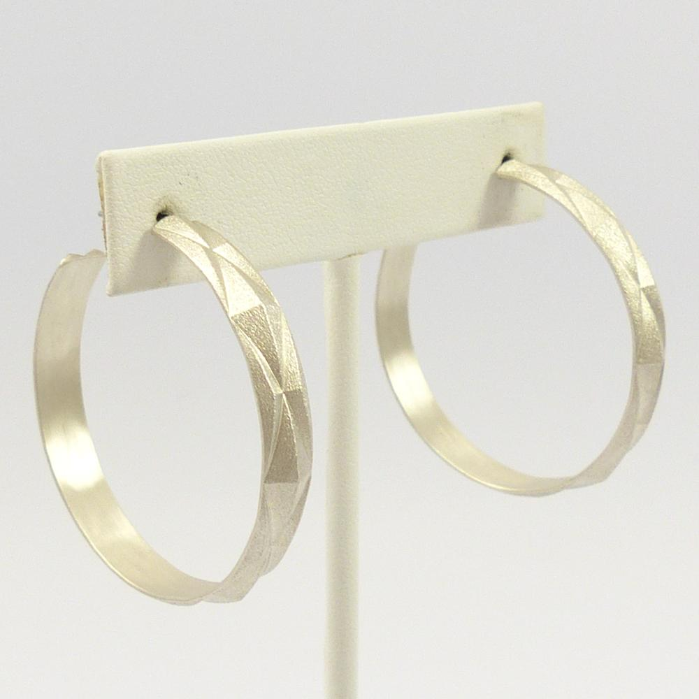 Diamond Peak Hoop Earrings