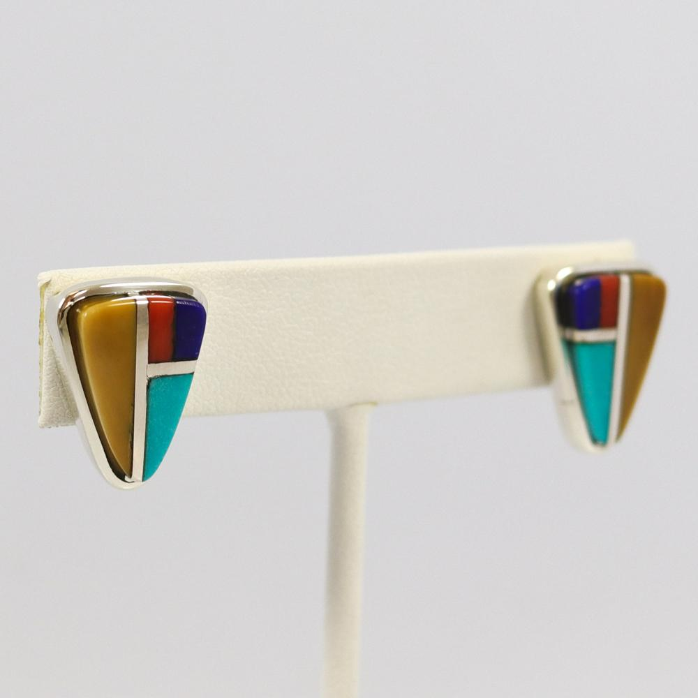 Cobbled Inlay Earrings