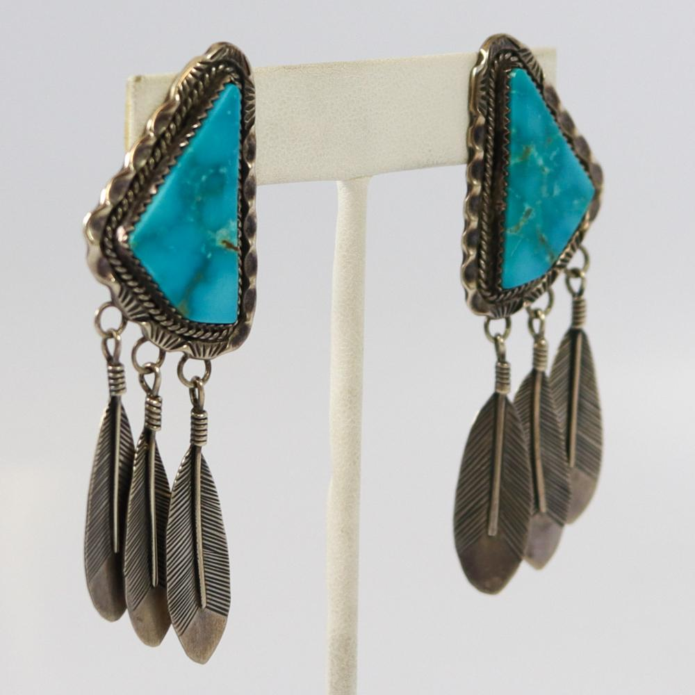 1970s Kingman Turquoise Earrings