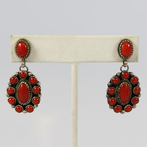 1970s Coral Earrings