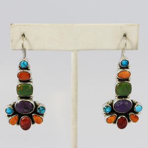 Multi-stone Cluster Earrings