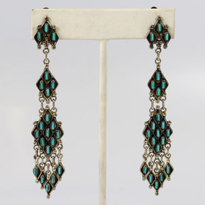 1960s Turquoise Clip Earrings
