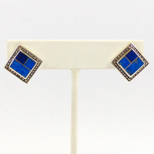 Lapis Inlay Earrings