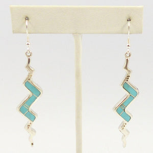 Turquoise Snake Inlay Earrings