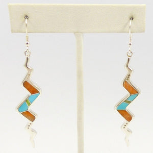 Multi-stone Snake Inlay Earrings