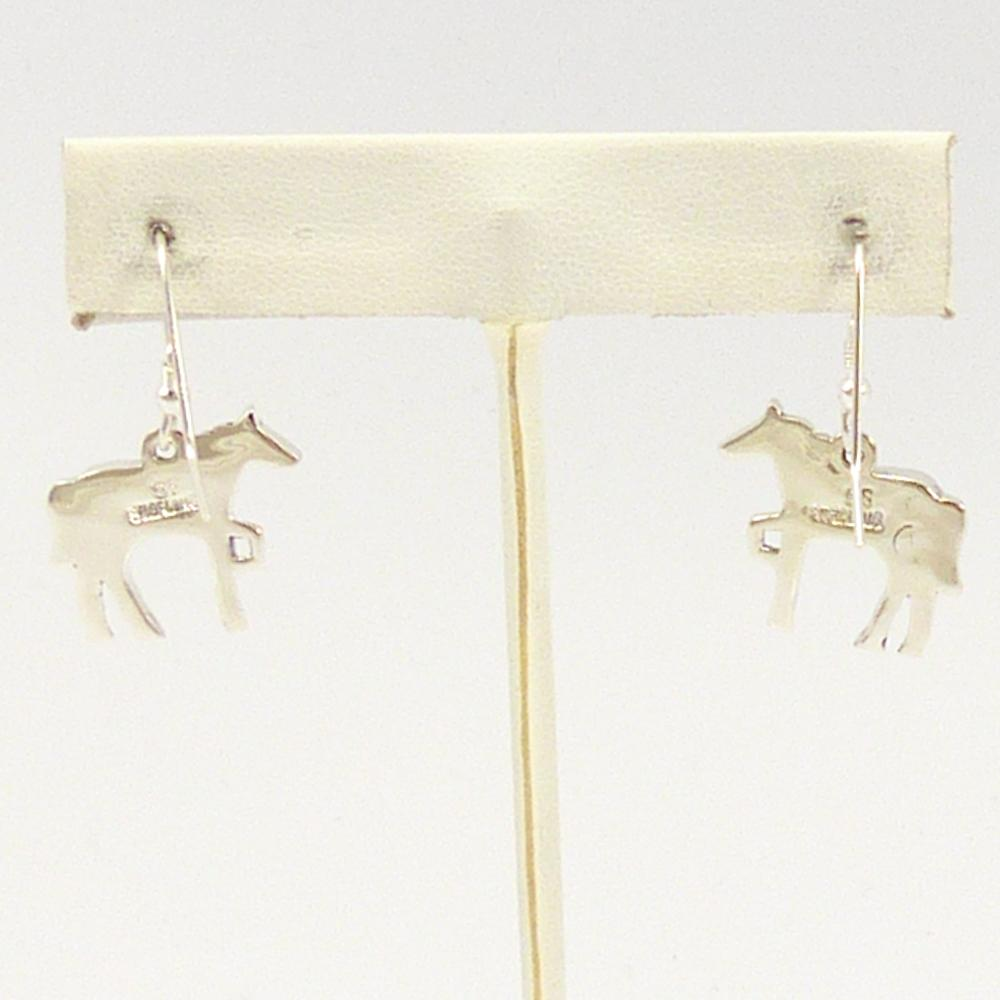 Horse Inlay Earrings