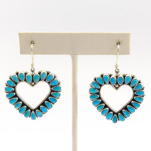 Heart Turquoise Earrings
