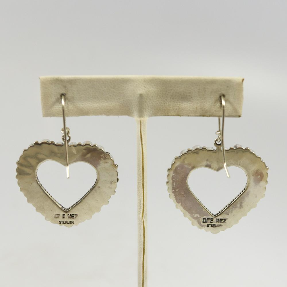 Heart Coral Earrings