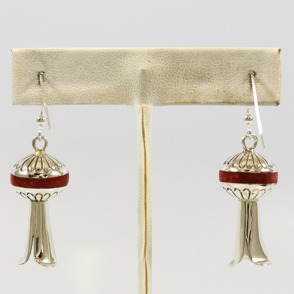 Coral Inlay Earrings