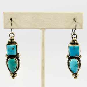 1990s Sleeping Beauty Turquoise Earrings