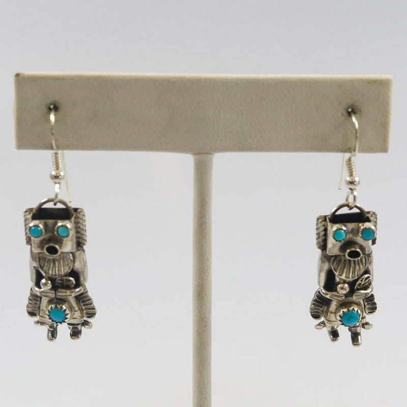 Turquoise Yei Earrings