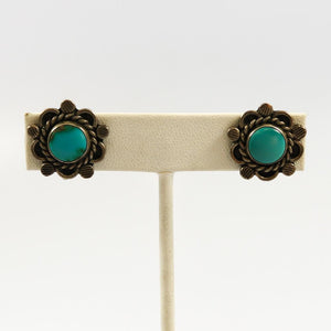 1940s Turquoise Earrings