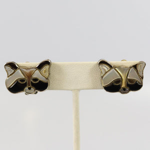 1960s Raccoon Earrings