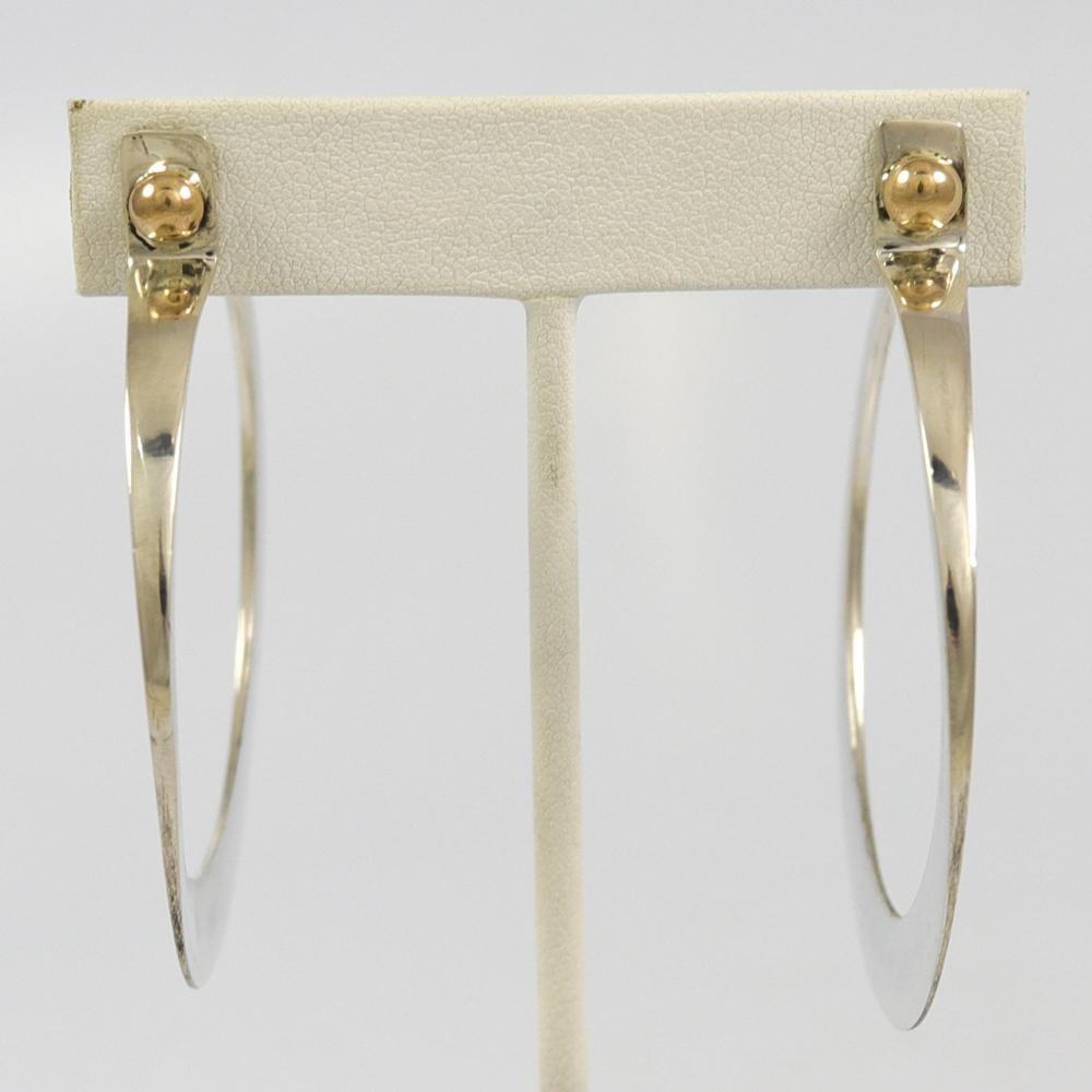Gold on Silver Earrings