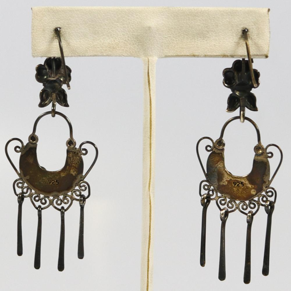 """Frida Kahlo"" Silver Earrings"