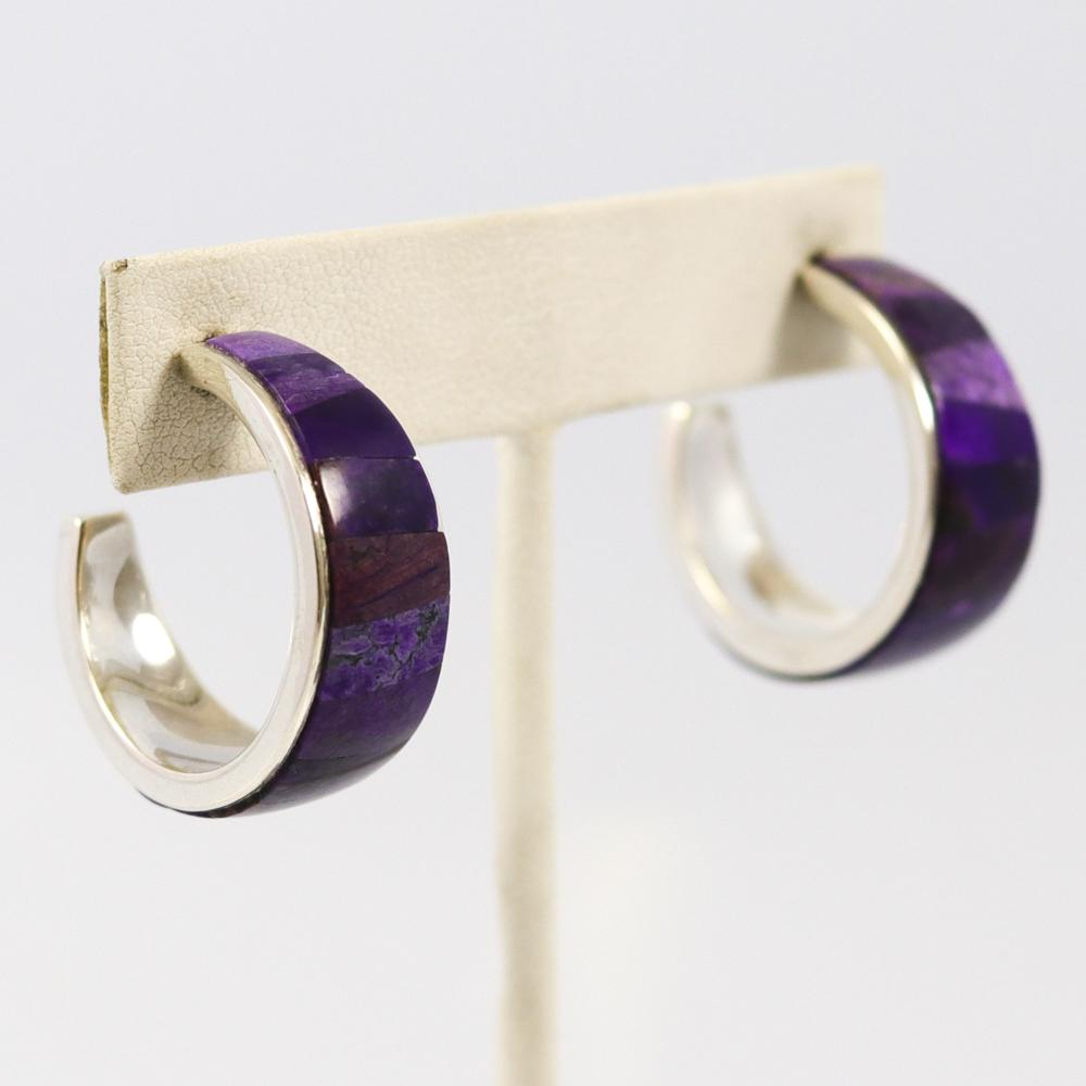 Sugilite Hoop Earrings