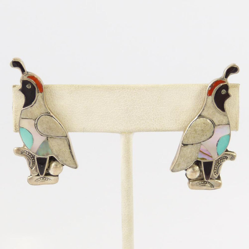 Quail Inlay Earrings