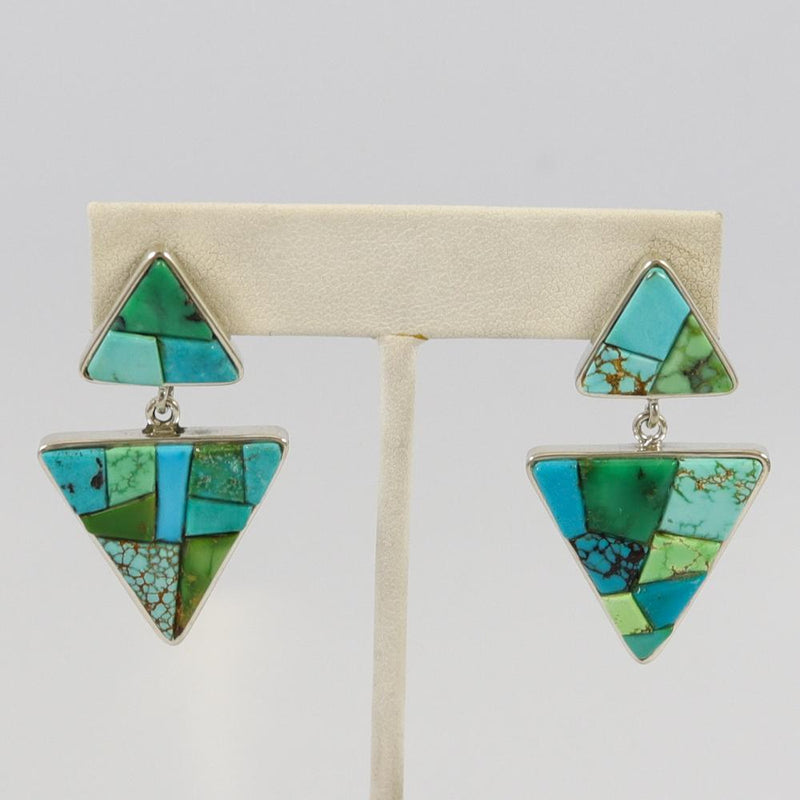 Turquoise and Variscite Earrings