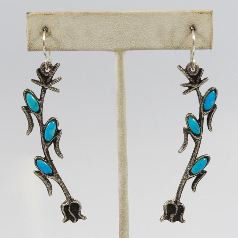 Turquoise Corn Stalk Earrings