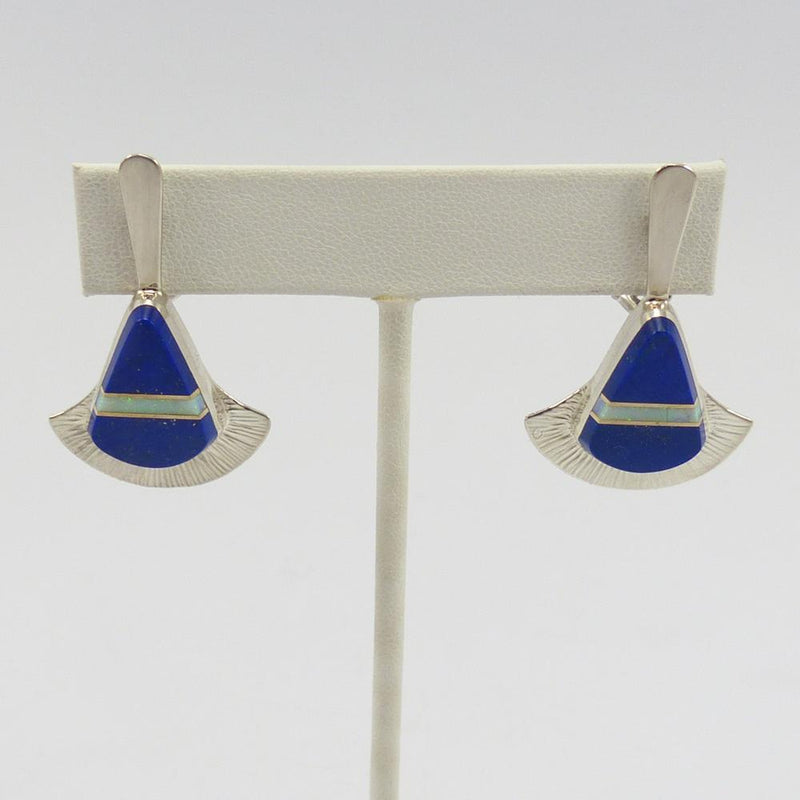 Lapis and Opal Earrings