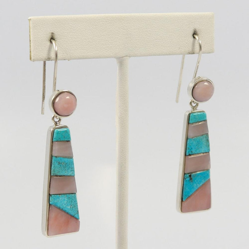 Turquoise and Opal Earrings
