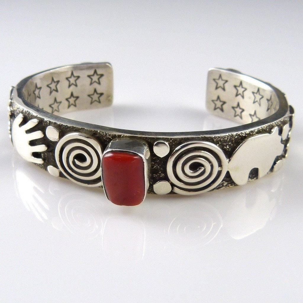 Applique Cuff with Coral
