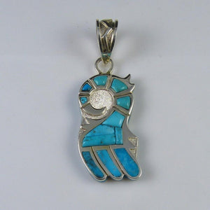 Morenci Turquoise Parrot Pendant