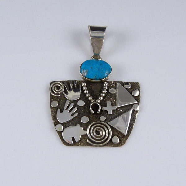 "Turquoise ""Grandmother"" Pendant"