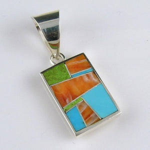 Colorful Inlay Pendant