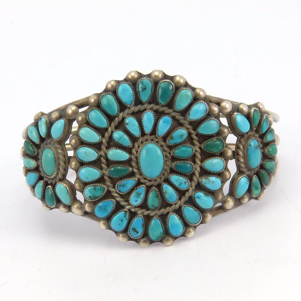 1930s Turquoise Cluster Cuff