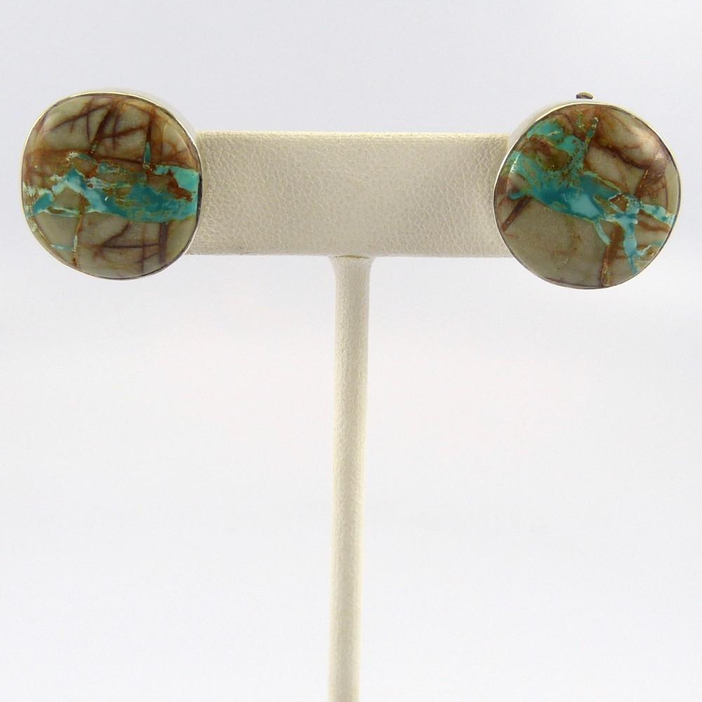 Boulder Turquoise Clip Earrings