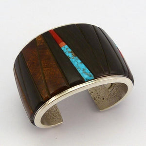 Multi-Stone Inlay Cuff